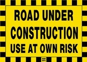 Road Under Construction Sign Board - Signage Solutions Belleville by B M R  Mfg  Inc