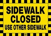 Sidewalk Closed Use Other Sidewalk Sign Board - Signage Solutions Belleville by B M R  Mfg  Inc