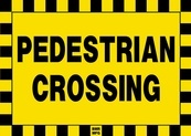 Pedestrian Crossing Sign Board - Signage Solutions Peterborough by B M R  Mfg  Inc