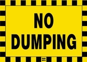 No Dumping Sign Board - Signage Solutions Peterborough by B M R  Mfg  Inc