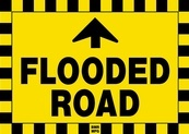 Flooded Road Ahead Sign Board - Signage Solutions Peterborough by B M R  Mfg  Inc