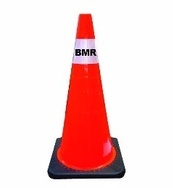 Orange Reflective Traffic Cone - Signage Manufacturing Belleville by B M R  Mfg Inc