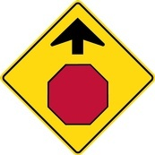 WB Series Stop Ahead - Regulatory Sign Board Manufacturing by B M R  Mfg Inc