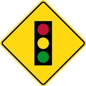 WB Series Traffic Signals Ahead - Regulatory Sign Board Manufacturing Trent Hills by B M R  Mfg Inc