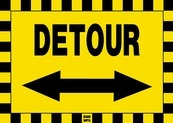 Detour Sign Board with Arrow - Signage Solutions Belleville by B M R  Mfg  Inc