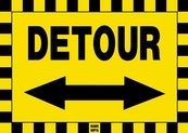 Detour Double Arrow Sign Board - Signage Solutions Belleville by B M R Mfg Inc
