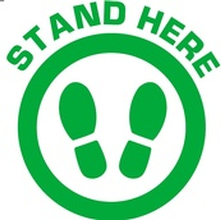 Stand Here - COVID Warning Signage Trent Hills by B M R  Mfg  Inc